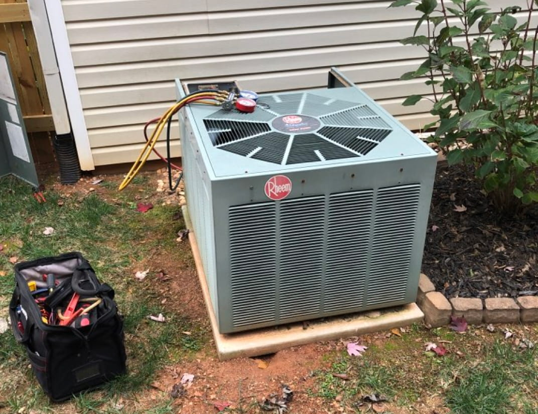 AC Unit outdoor repair and maintenance